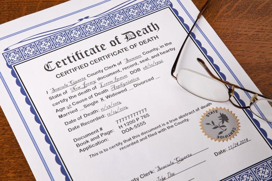 Make Fake Death Certificate Fresh A Reminder to Avoid the Culture Of Death Mostly Dead is