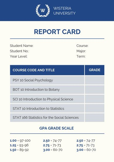 Make Fake Report Card Inspirational Customize 9 033 Report Card Templates Online Canva