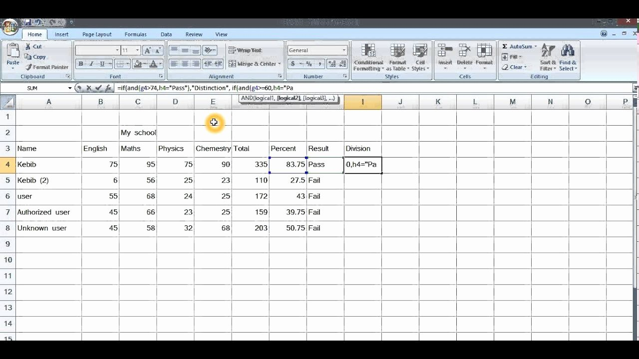 Make Fake Report Card New Create Report Card In Ms Excel In 10 Minutes Given
