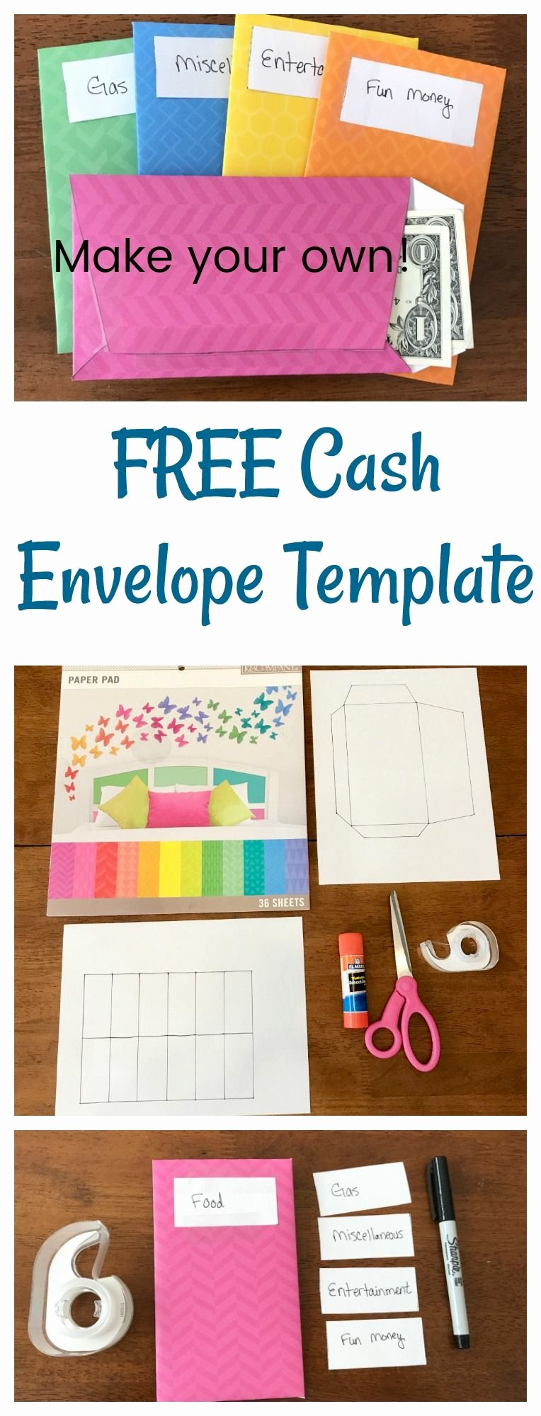 Make Your Own Envelopes Templates Fresh Learn How to Make Your Own Cash Envelopes with Free