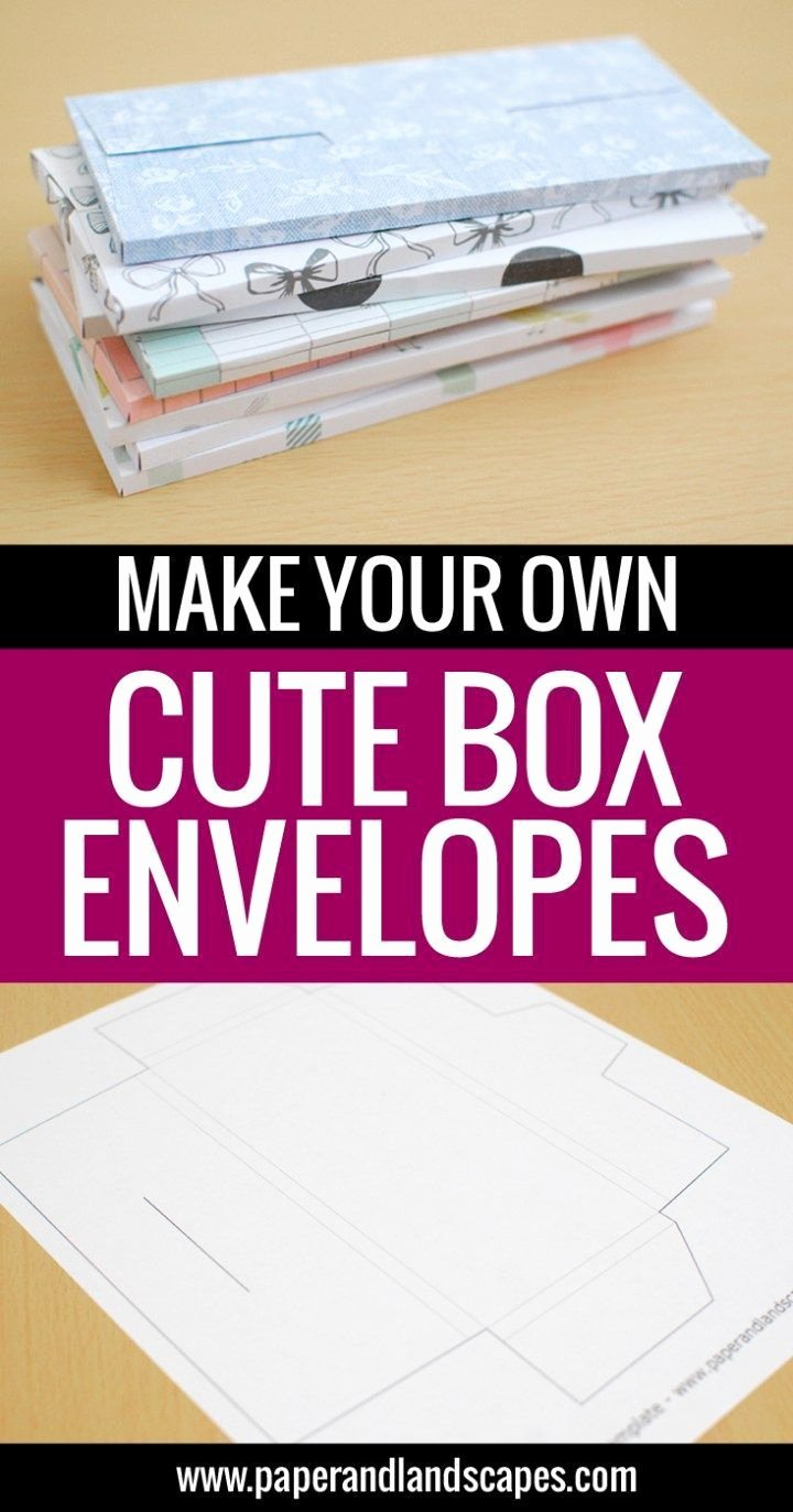 Make Your Own Envelopes Templates Luxury Make Your Own Cute Box Envelopes Free Printable Template