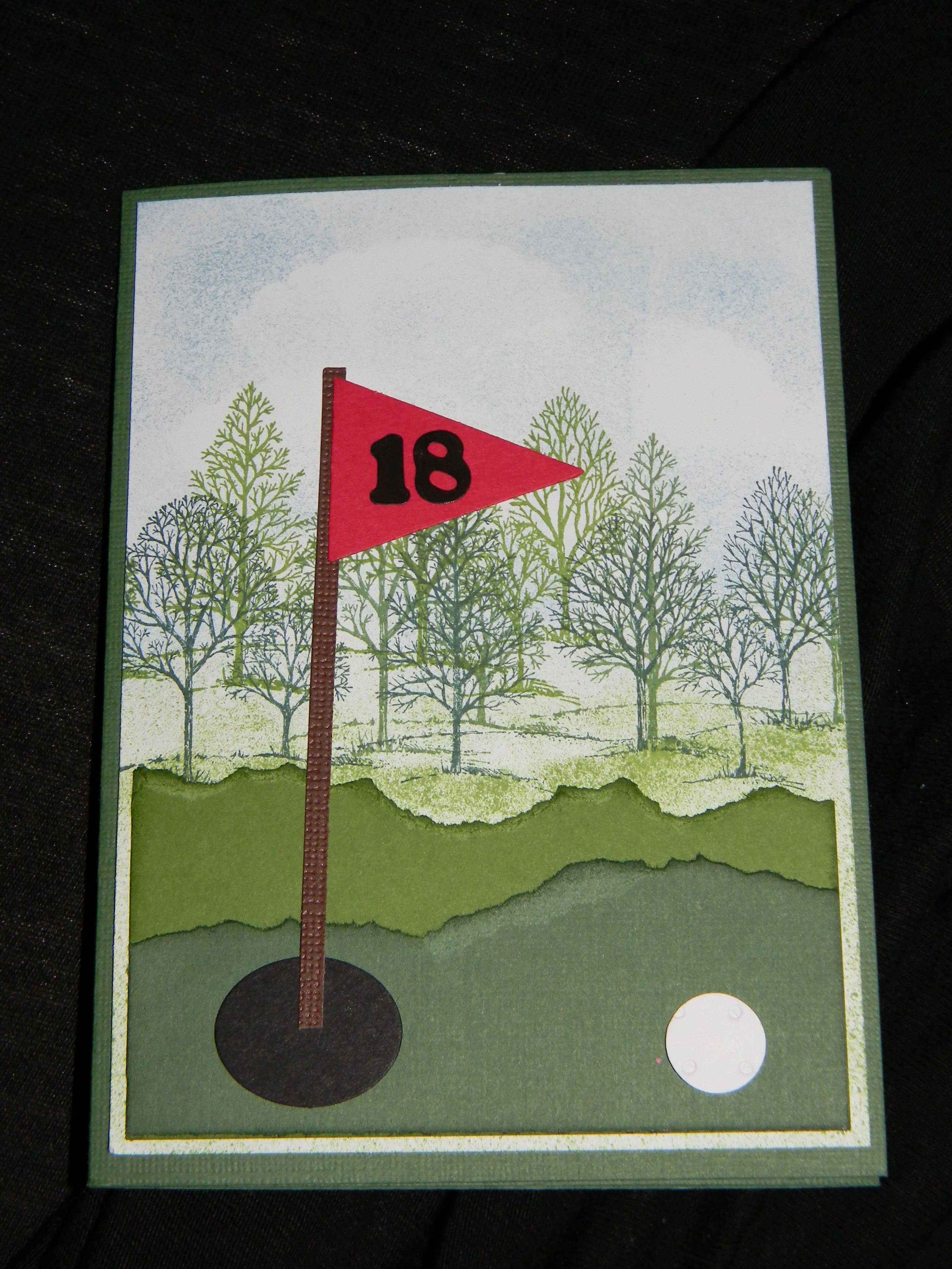 Make Your Own Golf Scorecard Beautiful This is A Golf Card that I Made Using Stampin Up