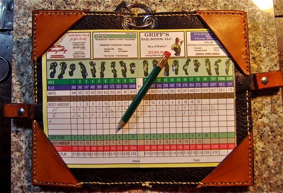 Make Your Own Golf Scorecard Elegant Leather Golf Scorecard Holder