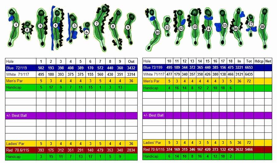 Make Your Own Golf Scorecard Fresh Chestnut Hill Country Club Scorecard