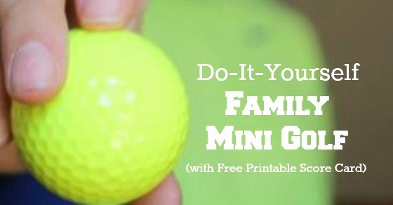 build your own mini golf course