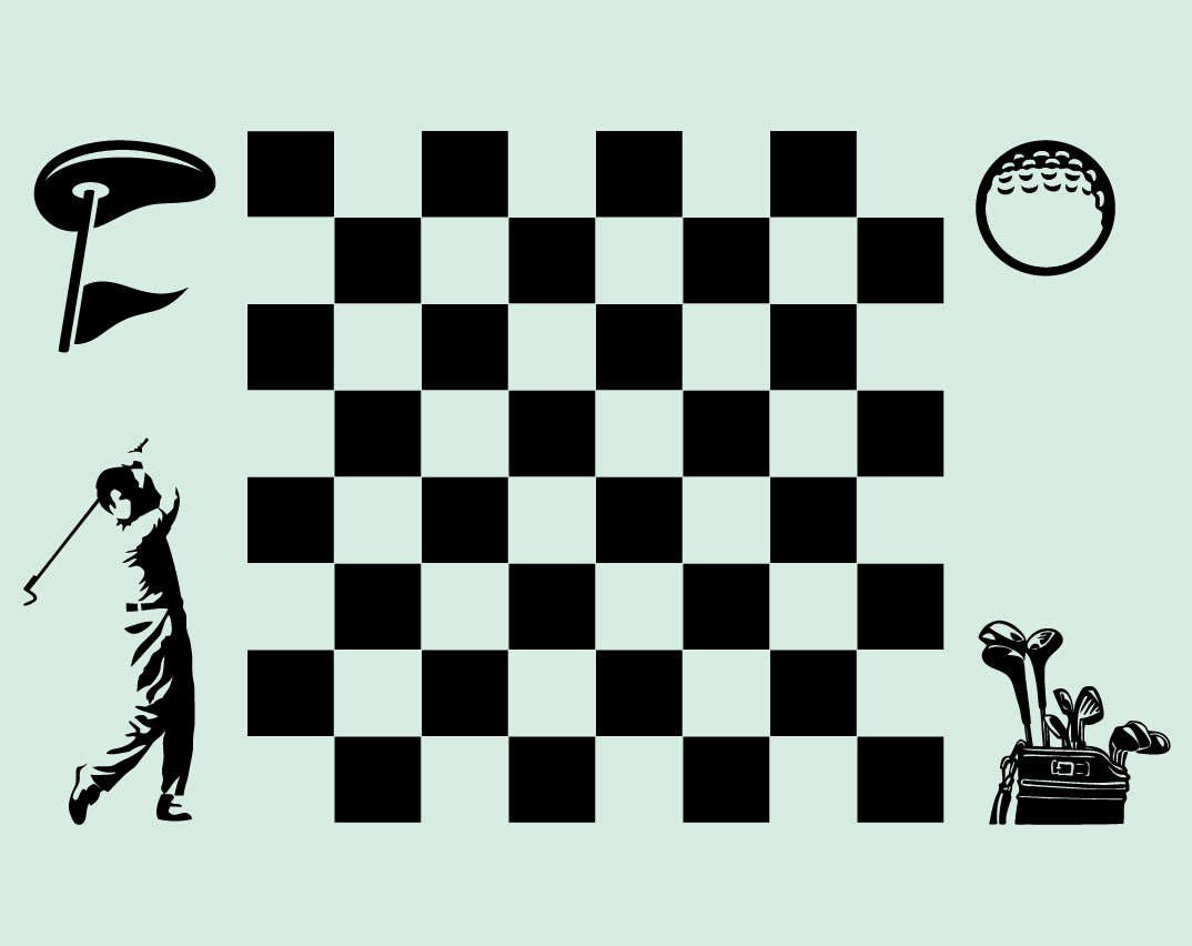 Make Your Own Golf Scorecard Inspirational Make Your Own Golf themed Chess & Checker Game Board Vinyl
