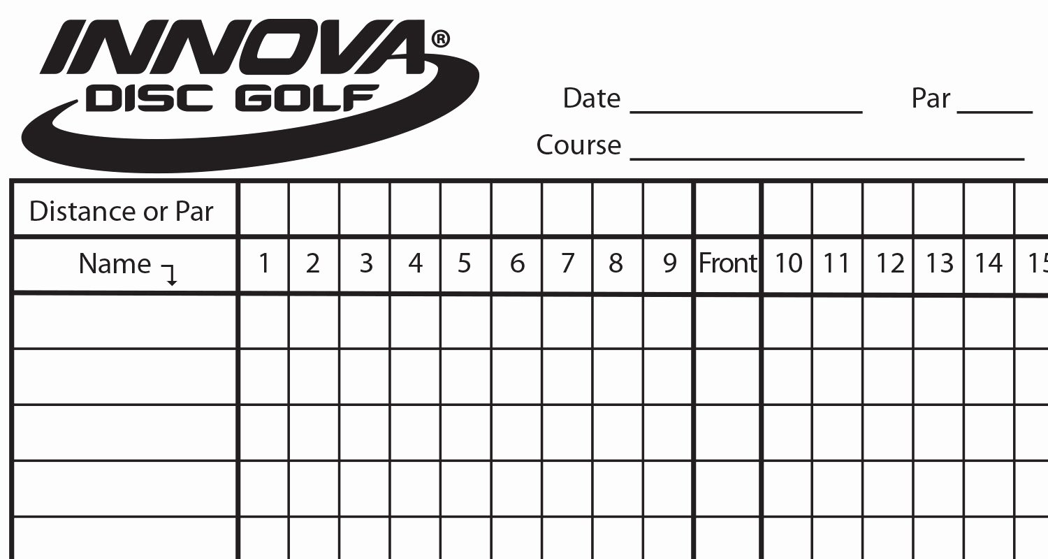 Make Your Own Golf Scorecard Unique Innova Scorecard Innova Disc Golf