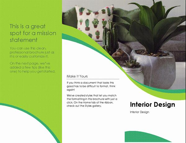 Making A Free Brochure Elegant Interior Design Brochure
