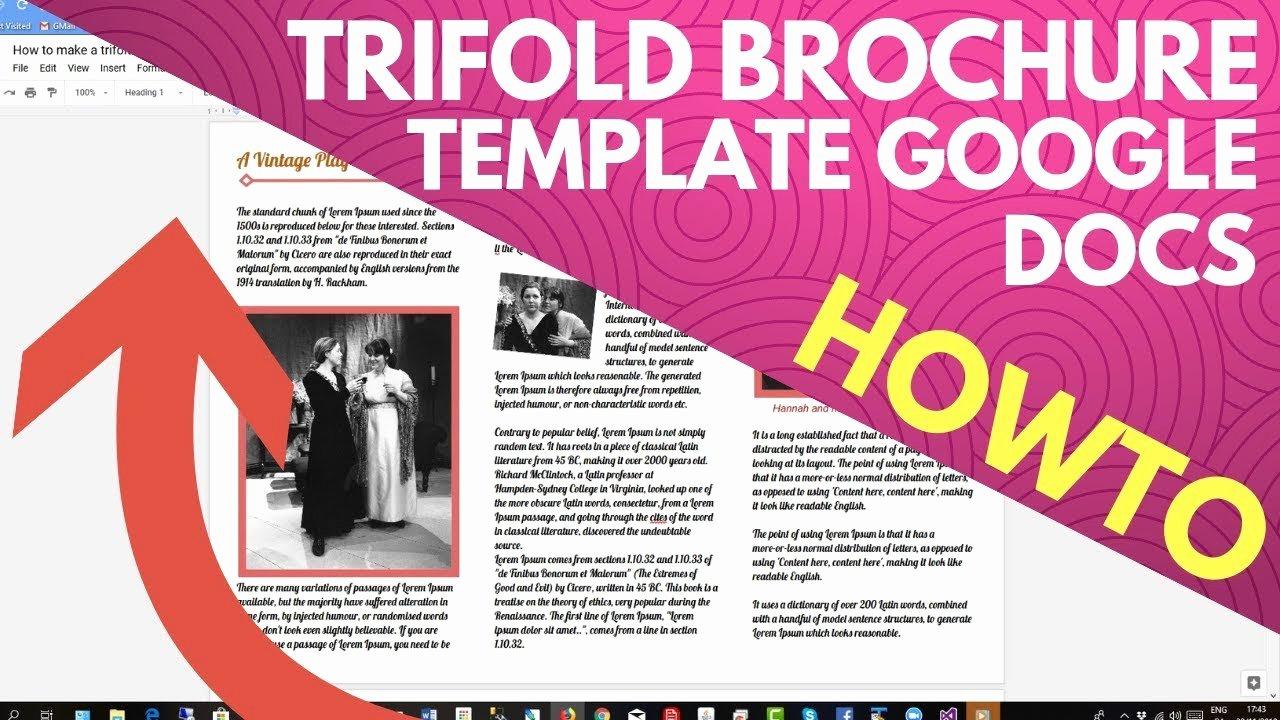 Making A Free Brochure Inspirational Trifold Brochure Template Google Docs