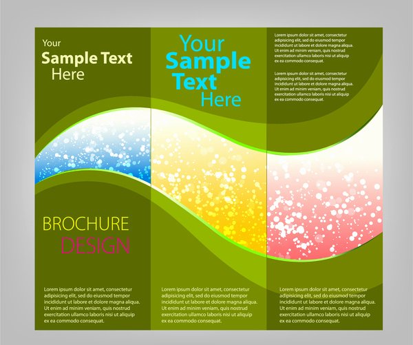 Making A Free Brochure Luxury Tri Fold Brochure Template Free Vector 18 731