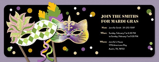 Mardi Gras Invitation Template Free Beautiful Free Mardi Gras Invitations