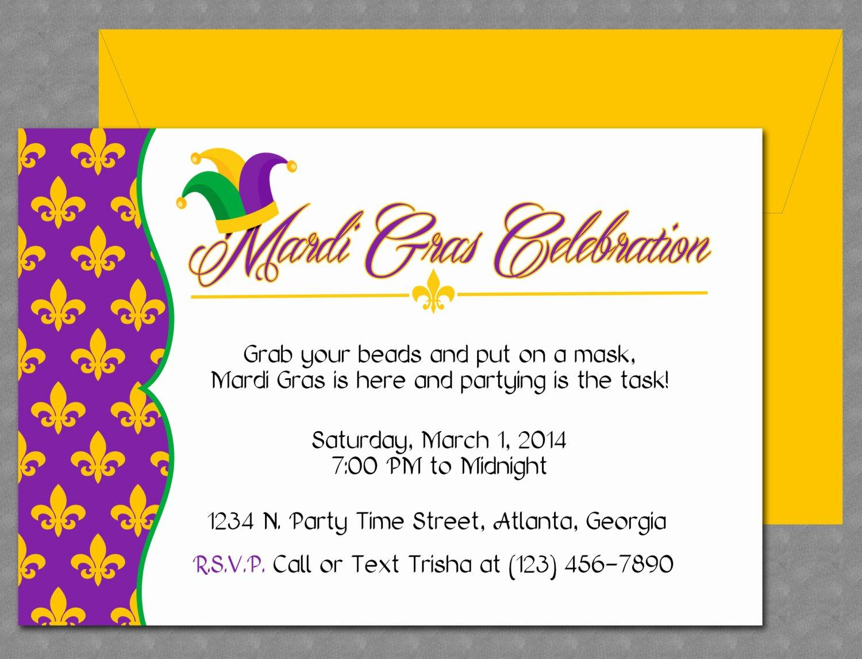 Mardi Gras Invitation Template Free Beautiful Mardi Gras Invitation Design Editable Template Microsoft