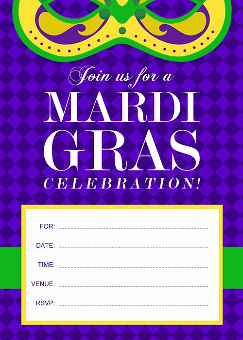 Mardi Gras Invitation Template Free Best Of Free Printable Mardi Gras Invitation by Purecostumes