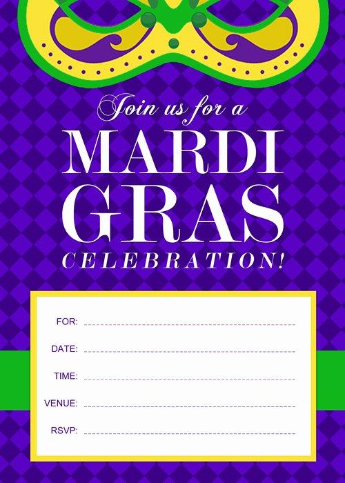 Mardi Gras Invitation Template Free Best Of Free Printable Mardi Gras Invitation by Purecostumes