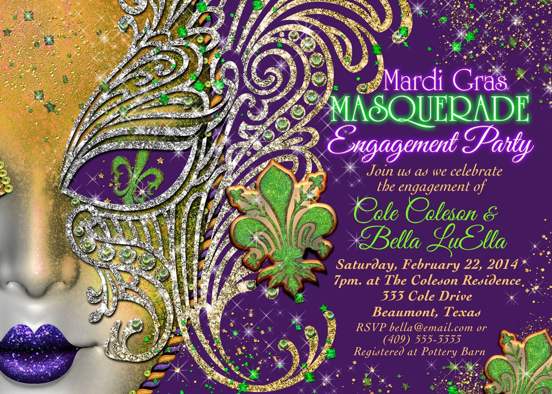 Mardi Gras Invitation Template Free Best Of Quinceanera Masquerade Party Birthday Masquerade Invitation