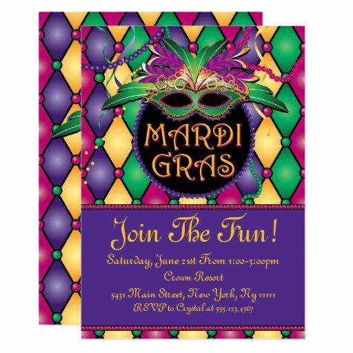 Mardi Gras Invitation Template Free Elegant Fun and Festive Mardi Gras Invitations