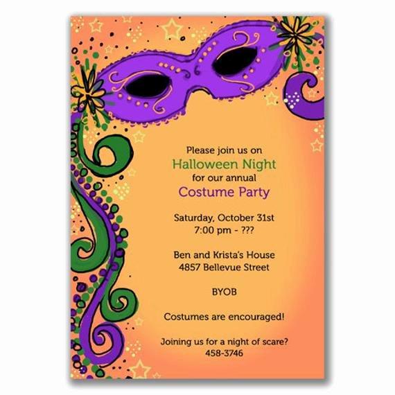 spooky mardi gras invitations for