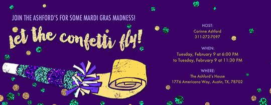 Mardi Gras Invitation Template Free Fresh Invitations Free Ecards and Party Planning Ideas From Evite