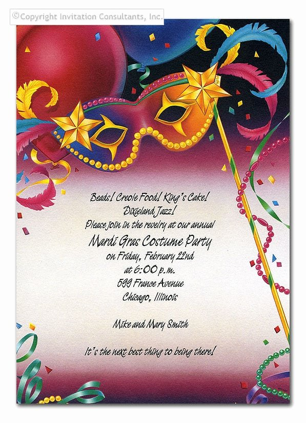 Mardi Gras Invitation Template Free Fresh Mardi Gras Invitation Template