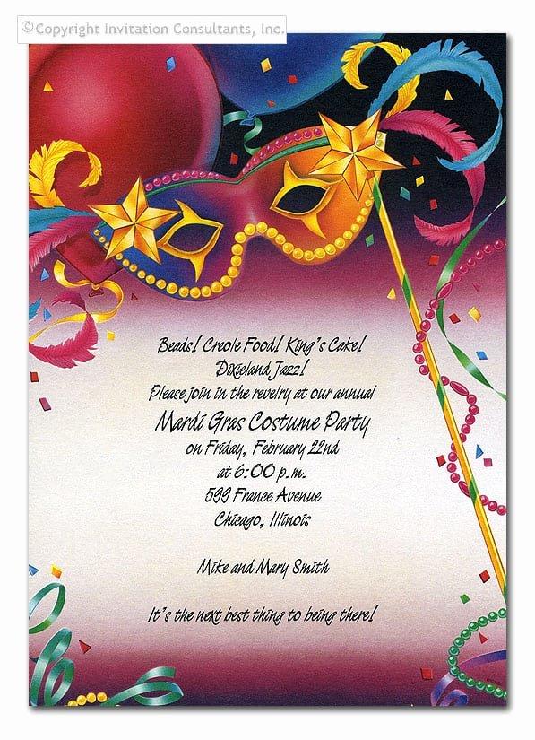 Mardi Gras Invitation Template Free Fresh Mardi Gras Invitation Template