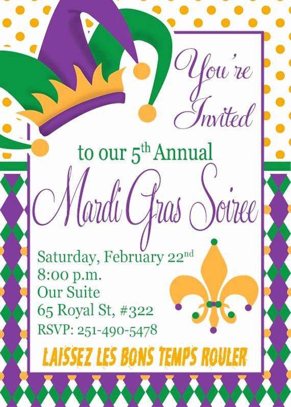 Mardi Gras Invitation Template Free Inspirational Mardi Gras Invitation Diy Printable Invitation Mardi Gras