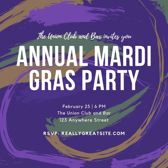 Mardi Gras Invitation Template Free Lovely Customize 76 Mardi Gras Invitation Templates Online Canva