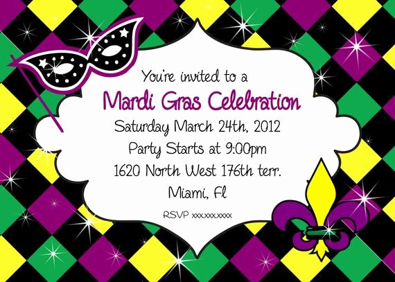 Mardi Gras Invitation Template Free Lovely Mardi Gras Invitation Party Printable Invitation Mardi Gras