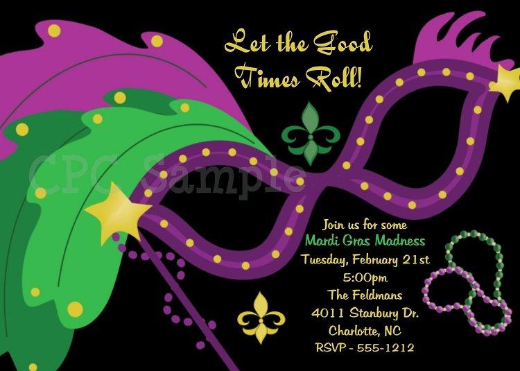 Mardi Gras Invitation Template Free New Mardi Gras Invitations Mardi Gras Party Invitations