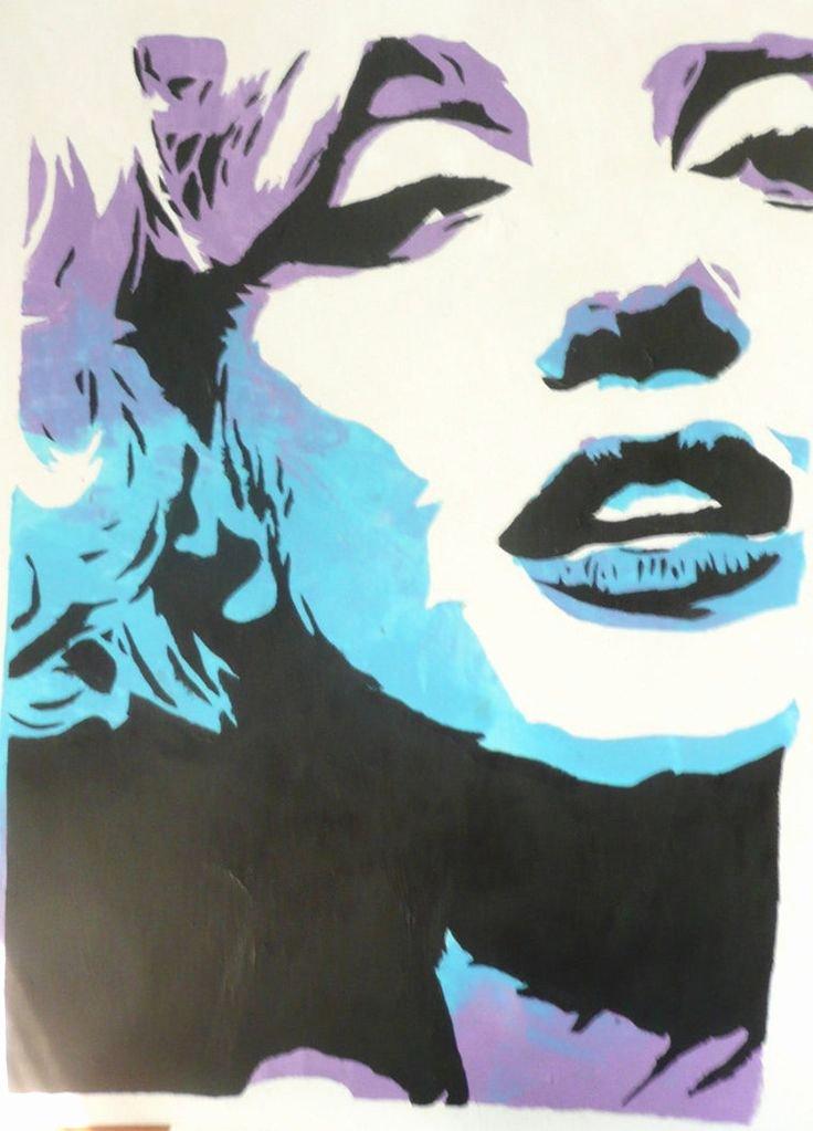 Marilyn Monroe Stencil Art Awesome 25 Best Ideas About Marilyn Monroe Stencil On Pinterest