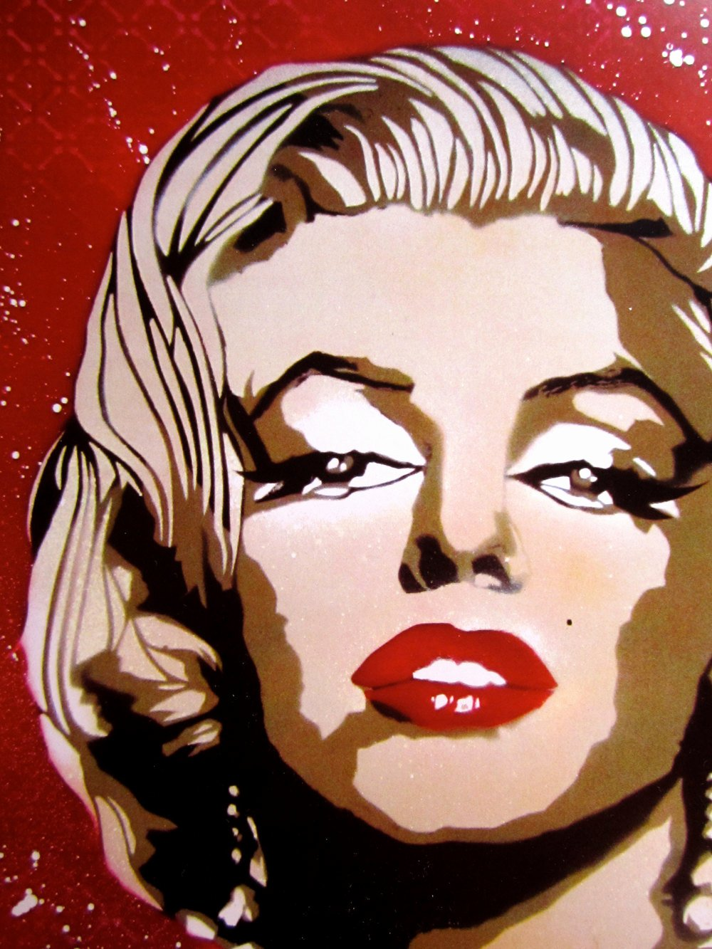 Marilyn Monroe Stencil Art Awesome Marilyn Monroe Stencil Art Print