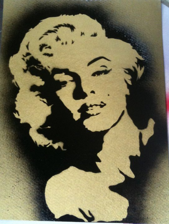 Marilyn Monroe Stencil Art Beautiful Marilyn Monroe Stencil by Madmandanpaints On Deviantart