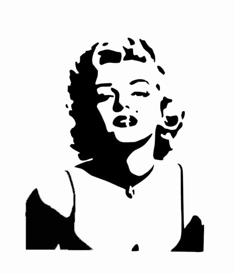 Marilyn Monroe Stencil Art Beautiful Marilyn Monroe Stencil Cake Decorating