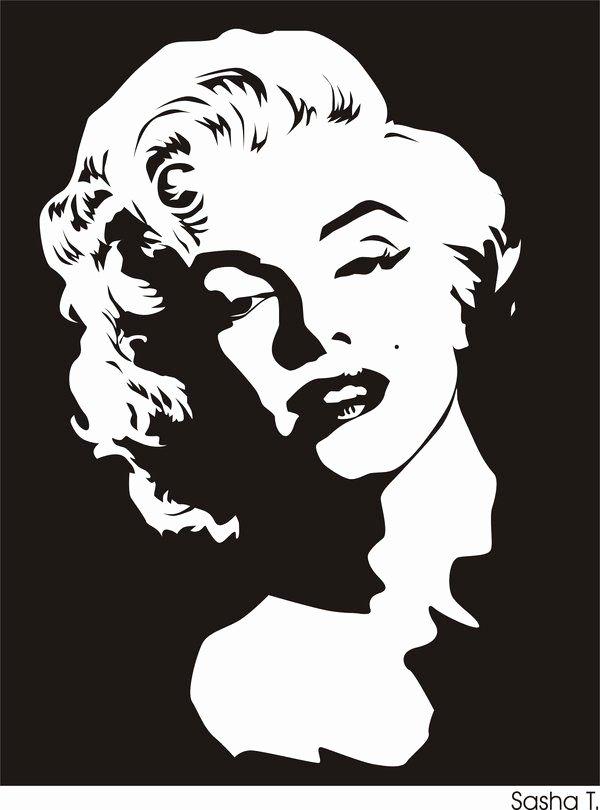 Marilyn Monroe Stencil Art Beautiful Pin by Dev Janewa On Vector In 2019