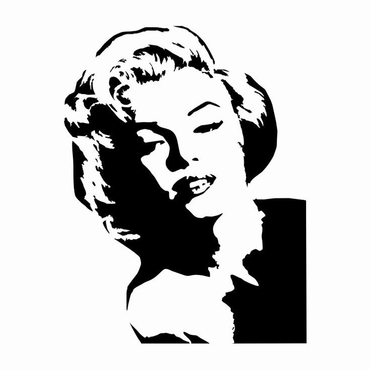 Marilyn Monroe Stencil Art Best Of 13 Best Stencil Face Images On Pinterest