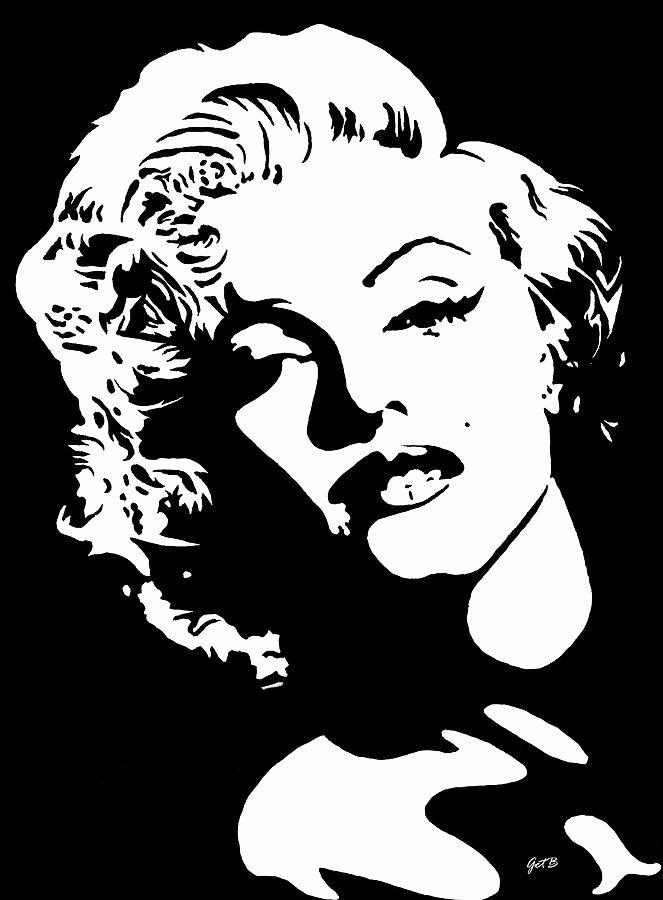 Marilyn Monroe Stencil Art Elegant Beautiful Marilyn Monroe original Acrylic Painting