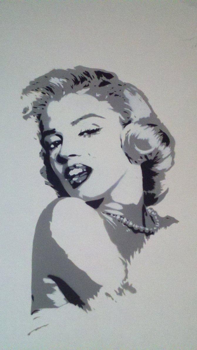 Marilyn Monroe Stencil Art Inspirational Marilyn Monroe Stencil by Xboxmaniac7 On Deviantart