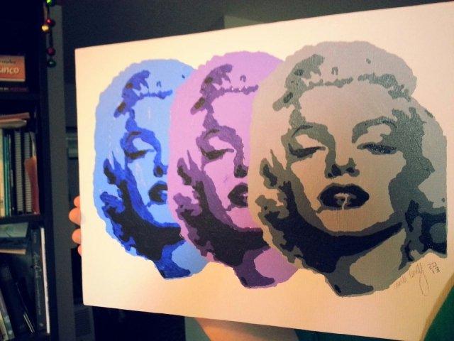 Marilyn Monroe Stencil Art Lovely Marilyn Monroe Stencil Painting by Shooitsapotato On