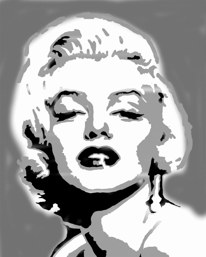 Marilyn Monroe Stencil Art Lovely Marilyn Monroe Wall Art Stencil Home Decorating Stencil
