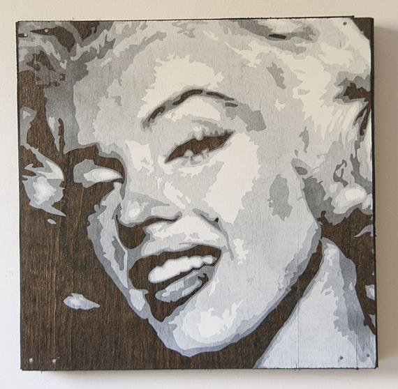 Marilyn Monroe Stencil Art Luxury Items Similar to Marilyn Monroe Multilayer Graffiti
