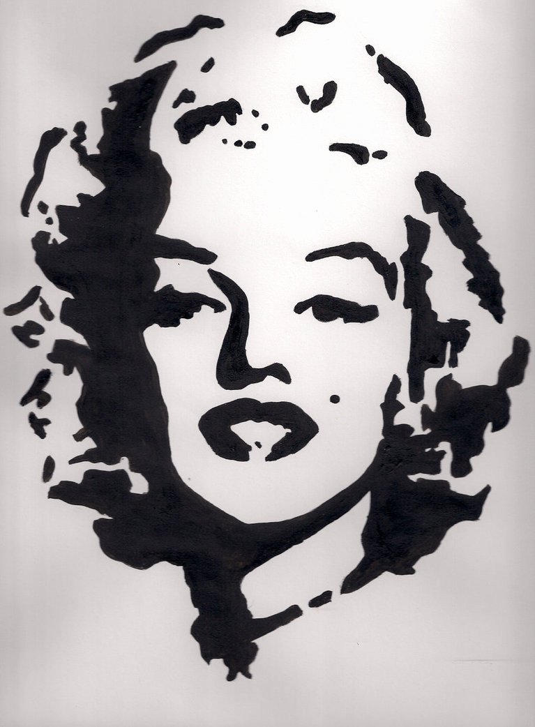 Marilyn Monroe Stencil Art New the Angel orensanz Foundation