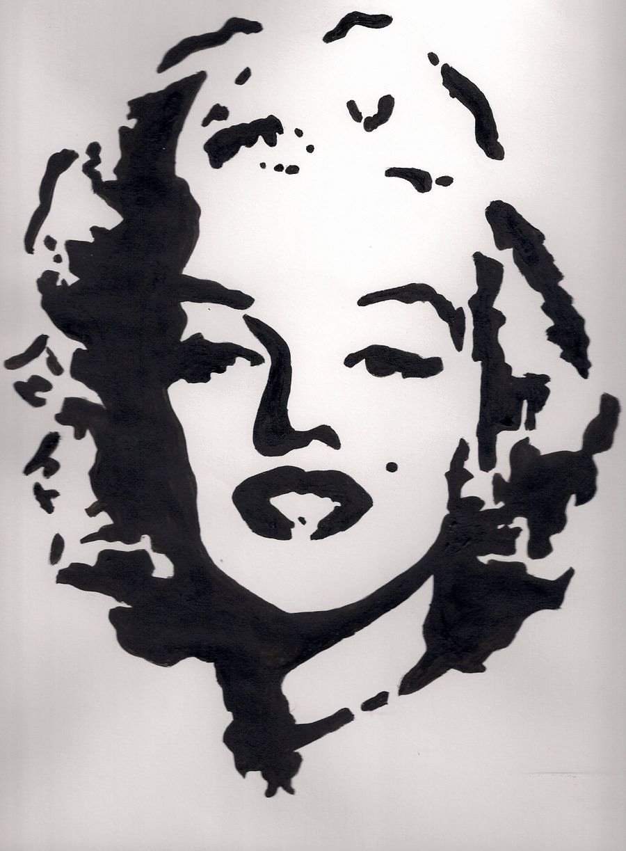 Marilyn Monroe Stencil Template Awesome Marilyn Art
