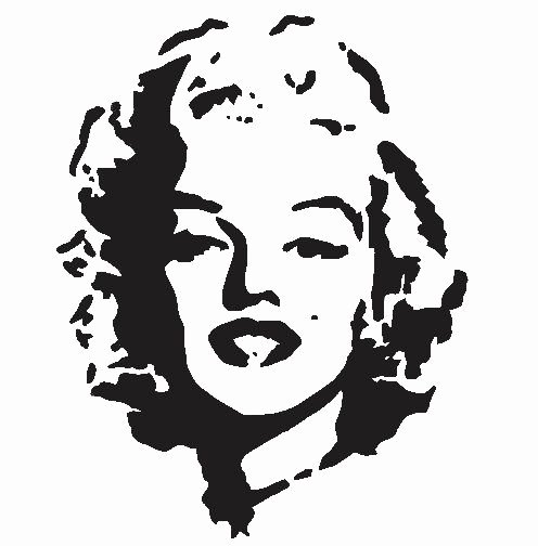 Marilyn Monroe Stencil Template Best Of Marilyn Monroe Stencil Laser Cut Into An X Ray Film