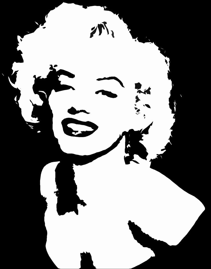 Marilyn Monroe Stencil Template Elegant 25 Best Ideas About Marilyn Monroe Stencil On Pinterest