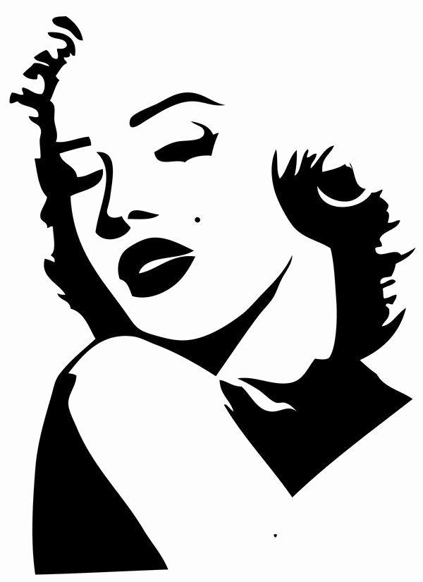 Marilyn Monroe Stencil Template Elegant Marilyn Monroe Silhouette Red Lips Clipart 20 Free