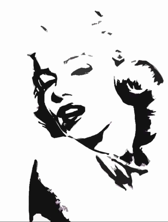 Marilyn Monroe Stencil Template Lovely 25 Best Ideas About Marilyn Monroe Stencil On Pinterest