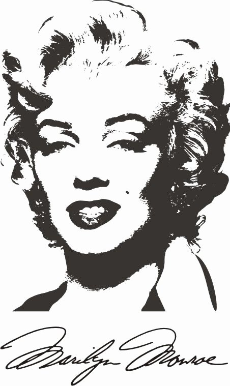 Marilyn Monroe Stencil Template Lovely Marilyn Monroe 6