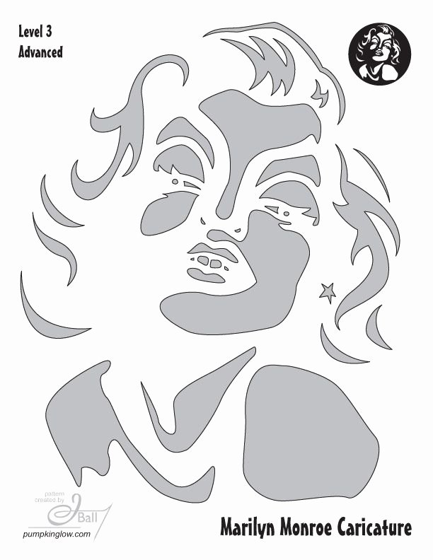 Marilyn Monroe Stencil Template New 108 Best Halloween Pumpkin Carving Images On Pinterest