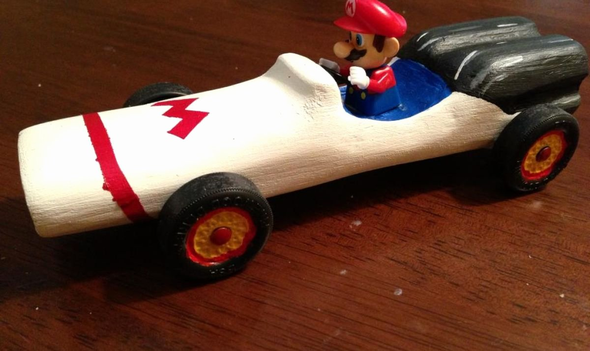 Mario Pinewood Derby Car Elegant Aerodynamic Pinewood Derby Cars Mario Car