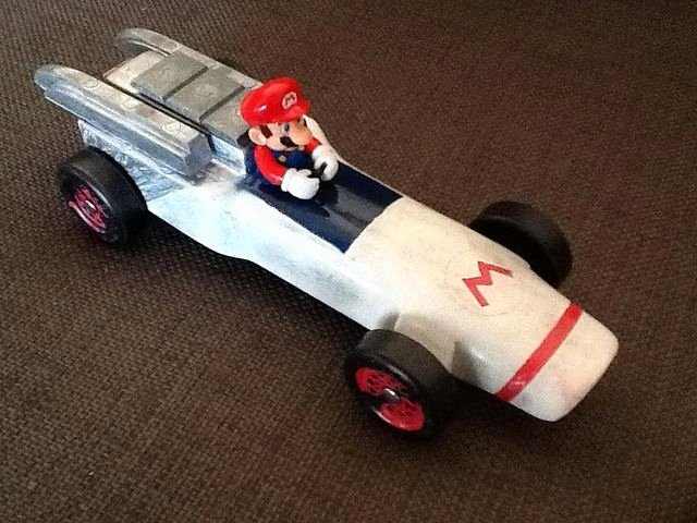 Mario Pinewood Derby Car New Mario Kart Pinewood Derby Car Crafts & Diy