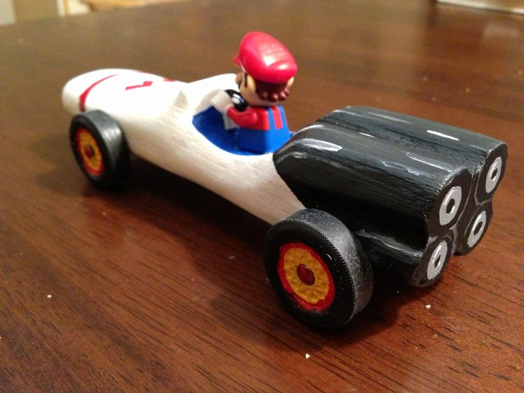 Mario Pinewood Derby Car Unique Na Pinewood Derby Mario Kart